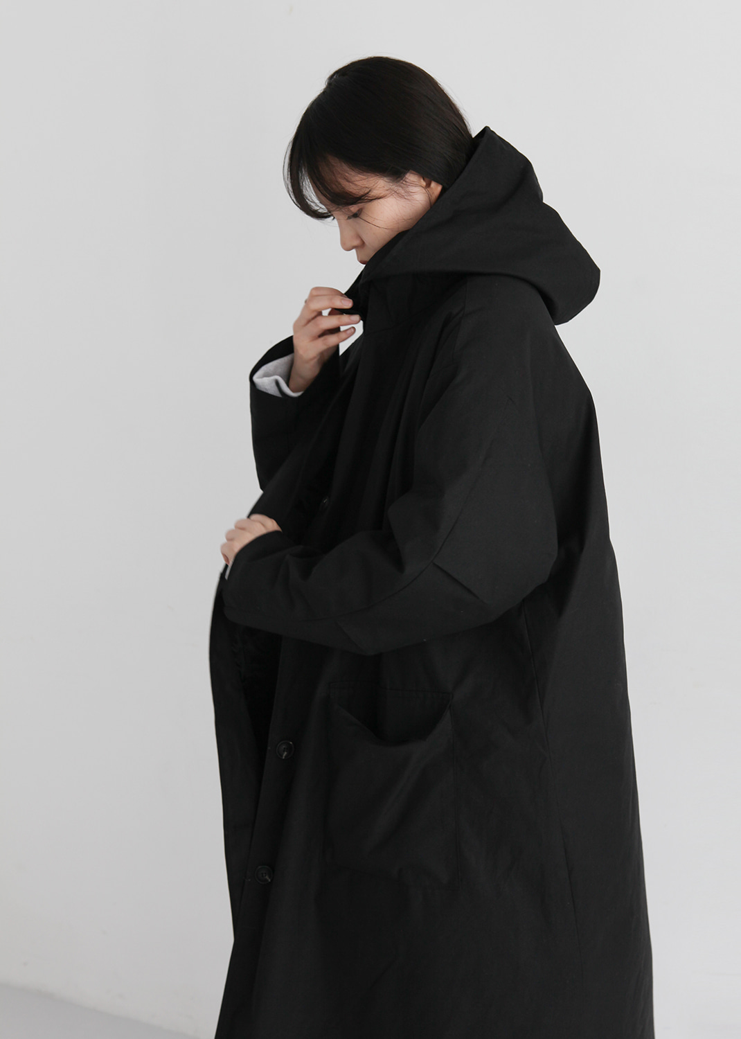 LONG HOODED COAT(3oz)